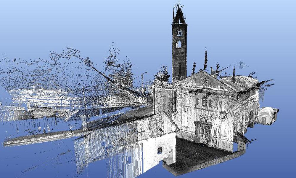 Rilievo di strutture architettoniche complesse