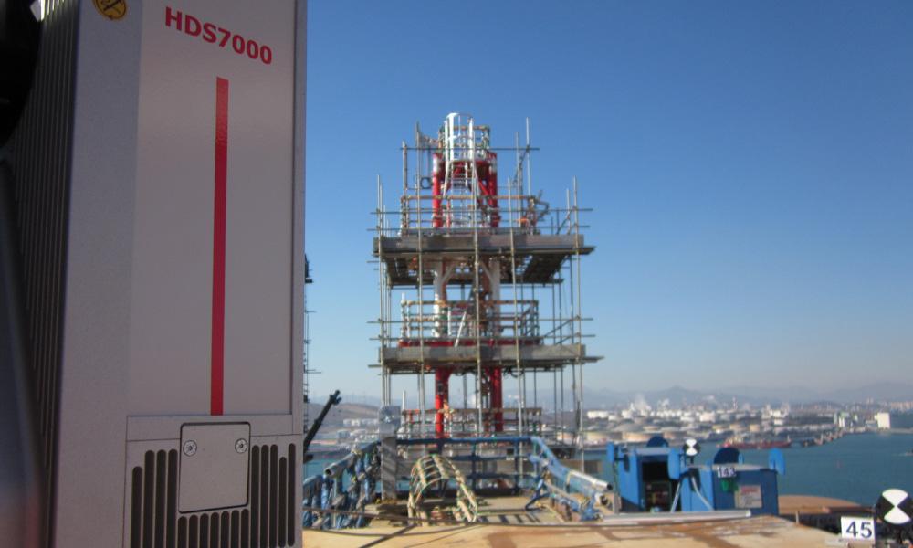 Verticality check of lattice pylons