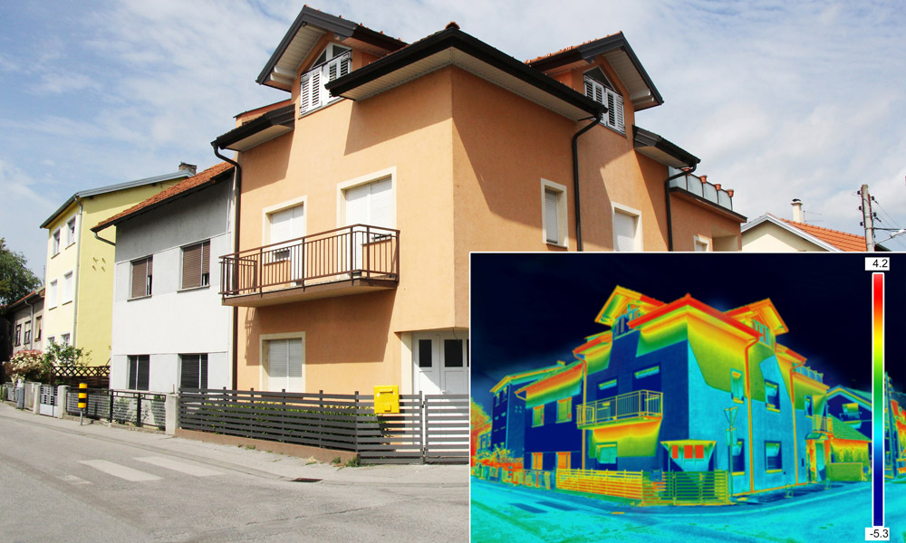 Thermographic surveys inside and outside of buildings