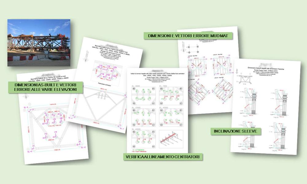 Controllo dimensionale jacket, redazione reportistica